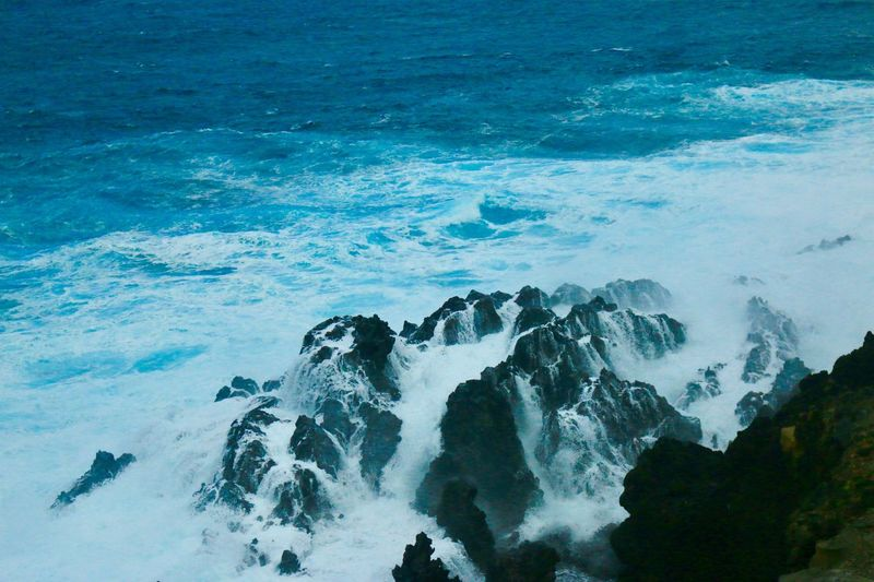 Mar de leva en Tenerife Sea Water Wave Motion Beauty In Nature Rock Aquatic Sport Splashing Power In Nature Beach High Angle View Solid Sport Scenics - Nature Rock - Object Surfing Nature Land Breaking Outdoors My Best Photo
