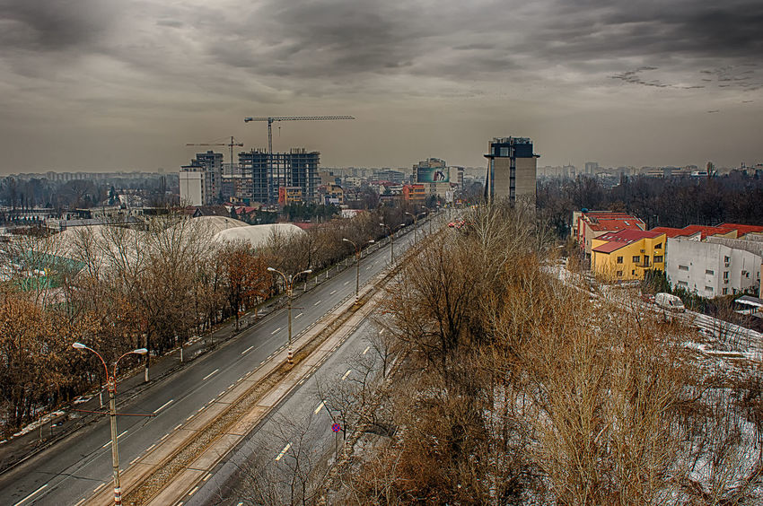 Barbu Vacarescu Architecture Building Building Exterior Built Structure Car City Cityscape Cloud Cloud - Sky Cloudy HDR Hdr_Collection High Angle View House Outdoors Residential Building Residential District Residential Structure Road Sky Street Transportation