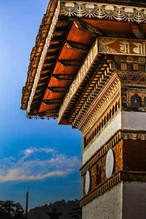 Architecture Built Structure Travel Destinations DochulaPass Building Exterior Day Sky Architecture Bhutanese Culture Detailing Colors Canon700D Canonphotography The Architect - 2017 EyeEm Awards