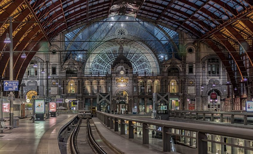 Beautiful Train Station in Antwerpen (BE) Antwerp Architecture Built Structure Centraal Station HDR