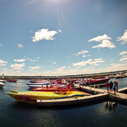 More Pokerrun fun: Sunnyskies and Loud Boats at SandraSLawnHarbour, prescottontario . gopro igersottawa