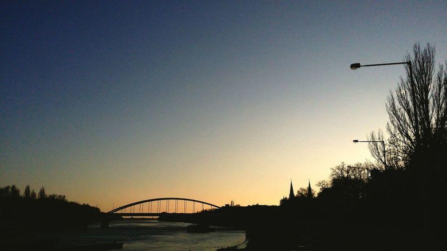Sun Szeged Hungry Sunset River Tisza