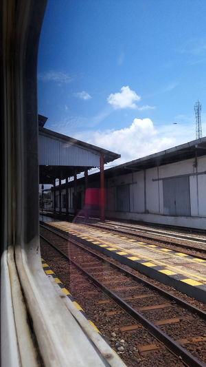 Train Rail Transportation Railroad Track Railroad Station Platform Sky Cloud - Sky Outdoors Day Life