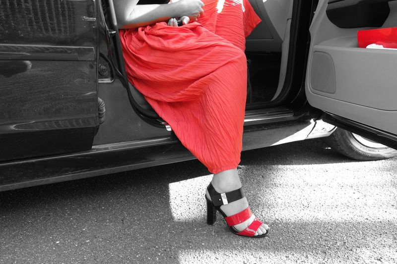 Red Black & White Color Filter Car Shoes Colour Of Life