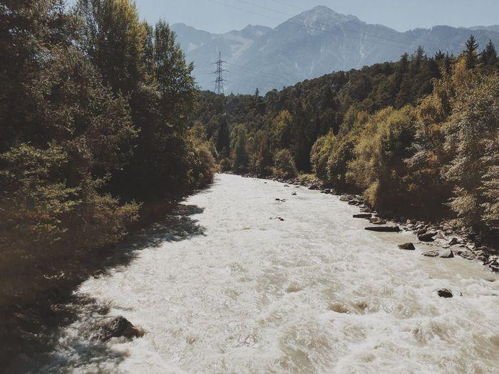 In the mountains of Austria Mountain Tree Forest Landscape Nature Vscocam River VSCO Austria Alps