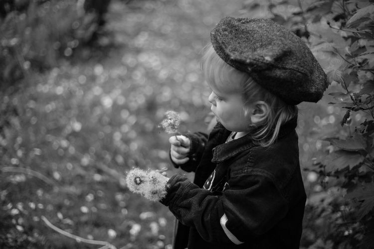 Portrait Children Childhood Children Photography Children's Portraits Childhood Memories Natural Light Portrait Portrait Photography The Week Of Eyeem Enjoying Life Black And White Black And White Photography Little Boy Summer Fine Art Photography Flower Dandelion Nature On Your Doorstep Connected With Nature in Finland Showcase July