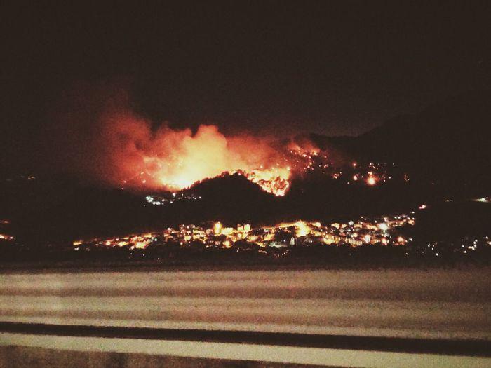 Marmaris orman yangını