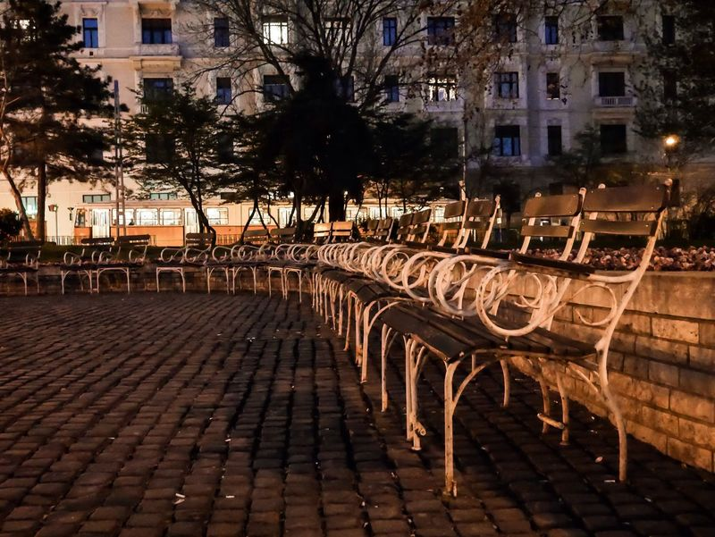 Evening in the park Evening Time Benches Empty Seats The Street Photographer - 2016 EyeEm Awards