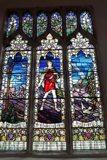 Stained Glass Multi Colored Window Place Of Worship William Morris Stained Glass Window Church Window Leaded Windows
