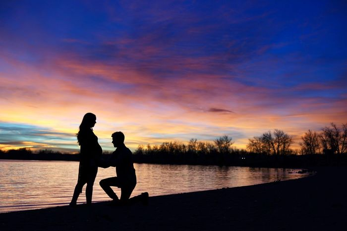 Colorado Couple Denver Pregnant Woman Beauty In Nature Family With One Child Goddess Lake Love Nature New Family Outdoors Pregnancy Pregnant Belly  Pregnant Life Scenics Silhouette Sunrise Sunset Togetherness Tranquility Water Be. Ready. Press For Progress This Is Family