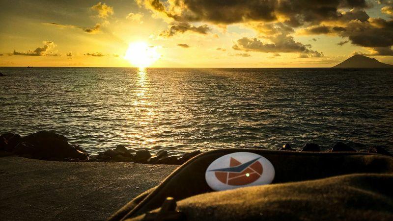 Sunset Sea Beach Cloud - Sky Sunlight Nature Sky Sun Break The Mold