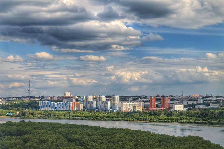 Siberia, Russia Architecture Building Exterior Built Structure City Cityscape Cloud - Sky Day Kemerovo Nature No People Outdoors Residential Building Siberia Sky Skyscraper Urban Skyline Water