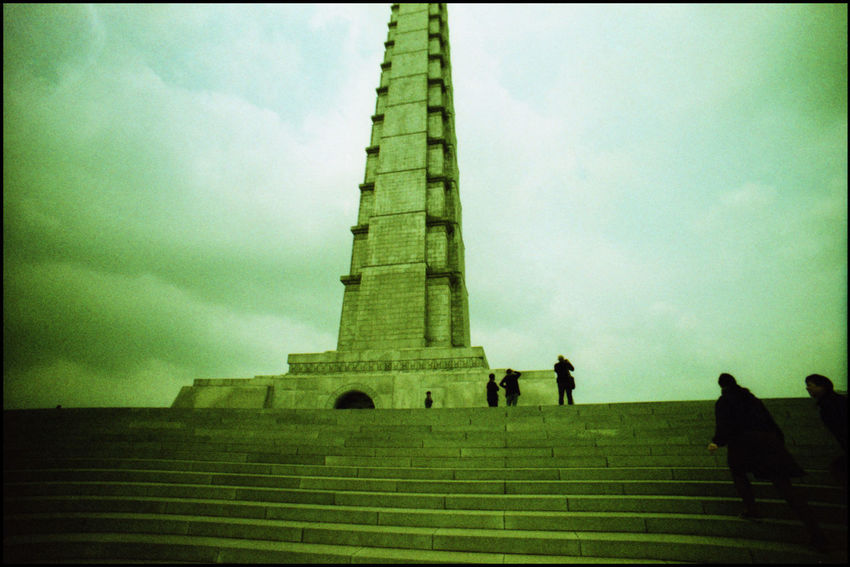 In and about the Juche Tower Analogue Photography Archunters ASIA Day DPRK Ideology Juche Juche Tower Kim Il Sung Lomography Northkorea Pyongyang Viewpoint Xpro