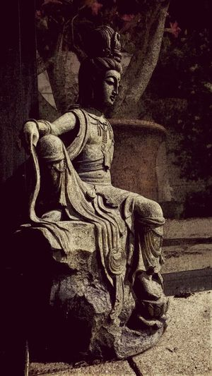 EyeEm Gallery Asian Art Outdoor Photography Statues Photography What I See Statue Vintagefilter Stone Capture Shadows Pop Of Color