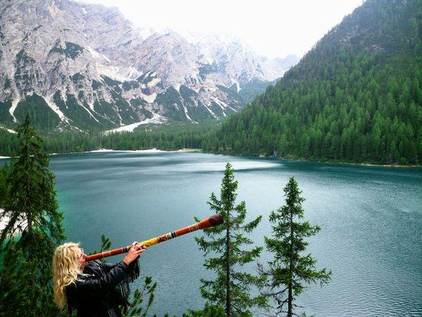 Südtirol Nature Animals Love Südtirol Didgeridoo Music Man