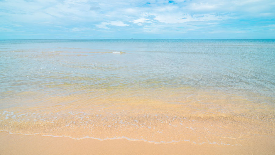beach Beauty In Nature Blue Calm Cloud Cloud - Sky Coastline Day Horizon Over Water Idyllic Nature No People Non-urban Scene Ocean Outdoors Remote Rippled Scenics Sea Seascape Shore Sky Tranquil Scene Tranquility Travel Destinations Water