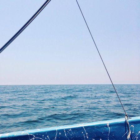 Live For The Story Sea Water Horizon Over Water Nature No People Beauty In Nature Outdoors Day Clear Sky Transportation Scenics Sky Nautical Vessel