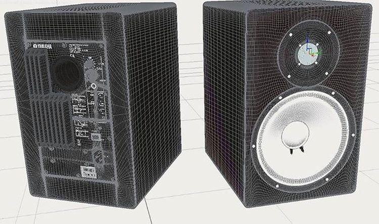 Active LoudSpeakers - Full-detail 3D model ( Linework ) -- Digitalart  Art 3dmodel 3dmodeling 3dsMax Mentalray Digitalartist Highpoly Fulldetail Loudspeaker Loudspeakers Photorealism Photorealistic Rendering 3drendering Render Wip Autodesk