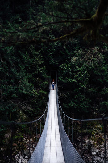 Suspense The Great Outdoors With Adobe The Great Outdoors - 2016 EyeEm Awards Bridge Vanishing Point Red Hair Cool Tones People The Portraitist - 2016 EyeEm Awards Cold EyeEm Best Shots Nature Outdoors Adventure The Following Girl Power Feel The Journey People And Places