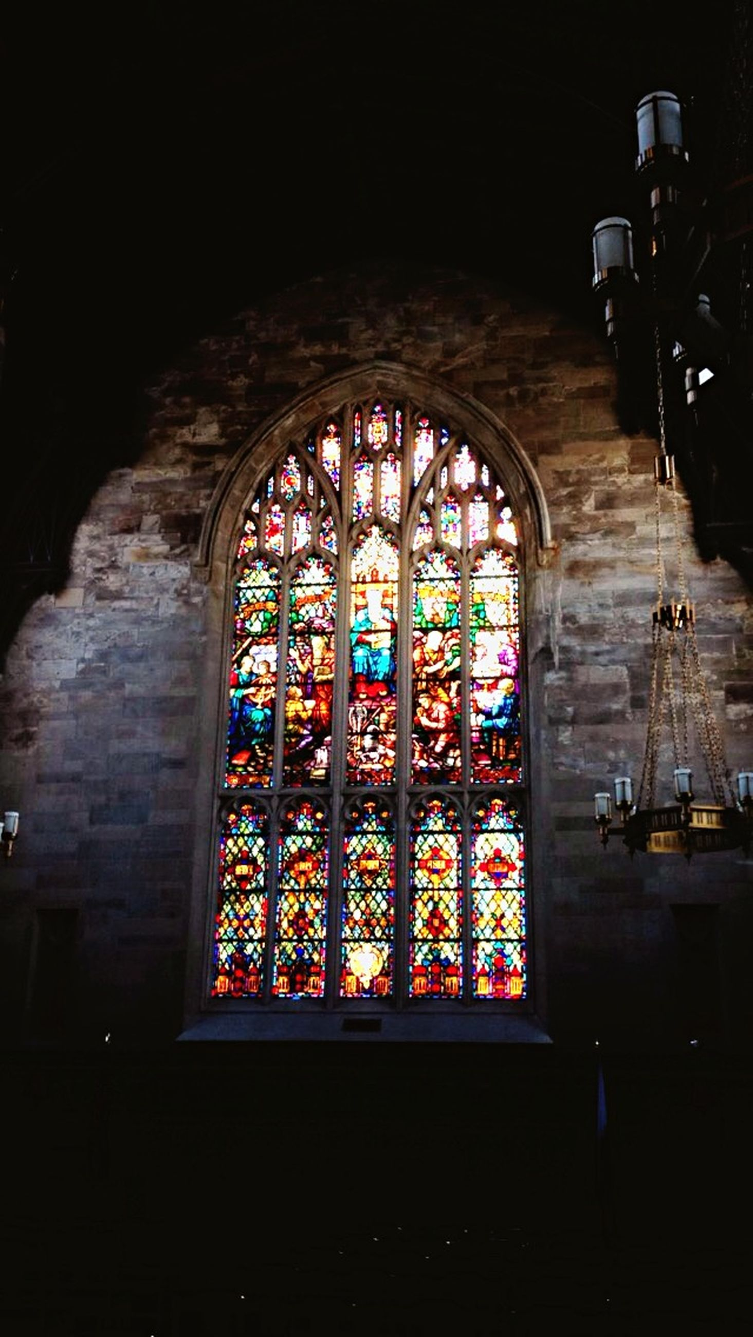 indoors, religion, place of worship, architecture, stained glass, built structure, spirituality, church, window, arch, multi colored, art, art and craft, ornate, design, illuminated, no people, entrance