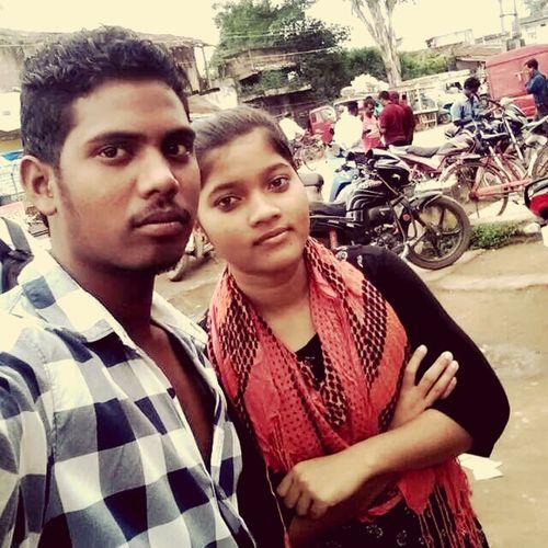 Me nd my sister Portrait Incidental People Portrait Land Vehicle Looking At Camera Casual Clothing Young Adult Front View Person Focus On Foreground Day First Eyeem Photo