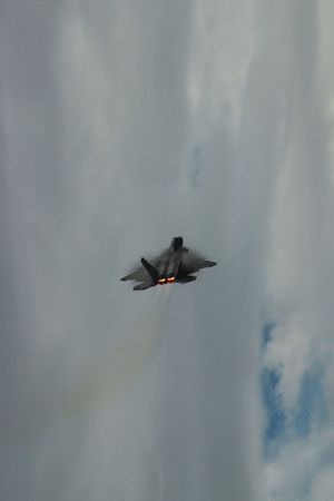 f22 raptor Photography Aircraft Flight Speed Contrail Afterburner