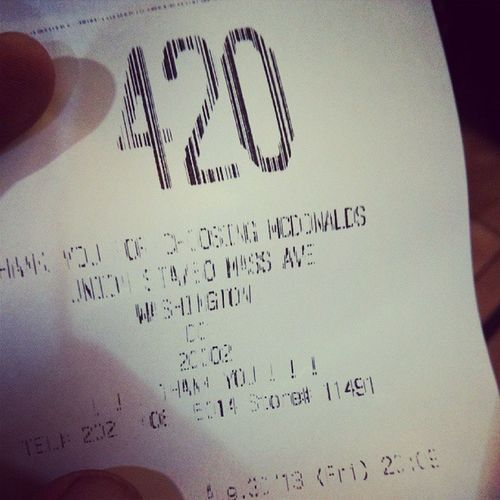 Hope my McDonalds comes with a side of Bud 420