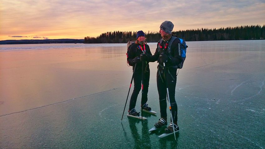 Ice Skating Long Distance SkatingJamtland Locknesjön Cristal Clear water in this Lake Clear Water Lake Sunset_collection It's Cold Outside As In A Dream Family❤ Two Is Better Than One