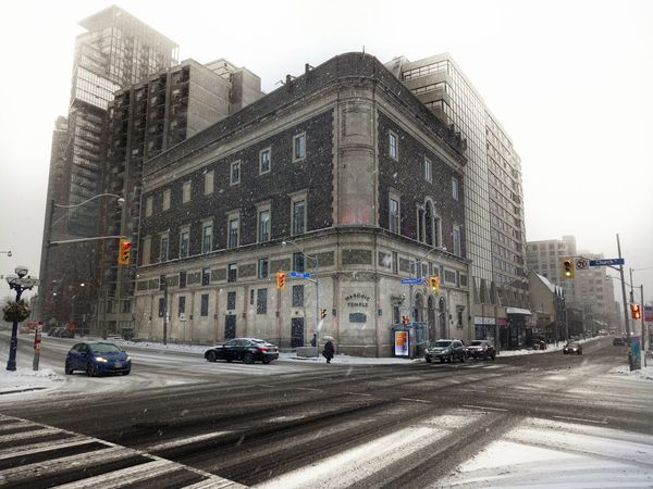 Snow Snowy Toronto City Cold Winter Urban Masonic Temple Yonge Street Davenport  Torontophotographer