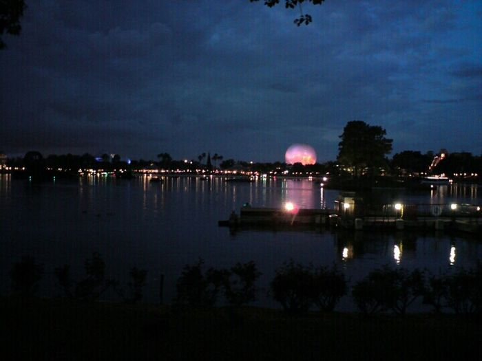 Epcot Centre at Dusk Dusk Night Lights Clouds And Sky USA TheMinimals (less Edit Juxt Photography) Sony K850i Traveling