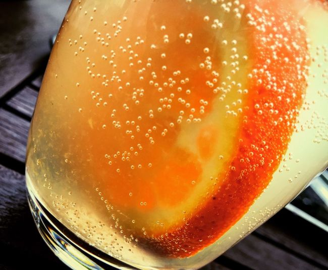 Bubble Carbonated Drinking Glass Food And Drink Freshness Lemonade Orange Refreshment