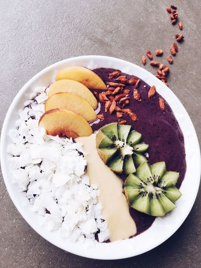Smoothie Bowl Food And Drink Food Freshness Plate Ready-to-eat Multi Colored Meal Bowl Smooth Smoothie Time  Smoothie Smoothiebowl Healthy Eating Healthy Food