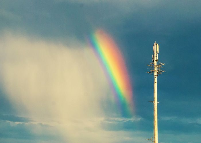 Sky And Clouds Overtherainbow Rainbow Colors Weather