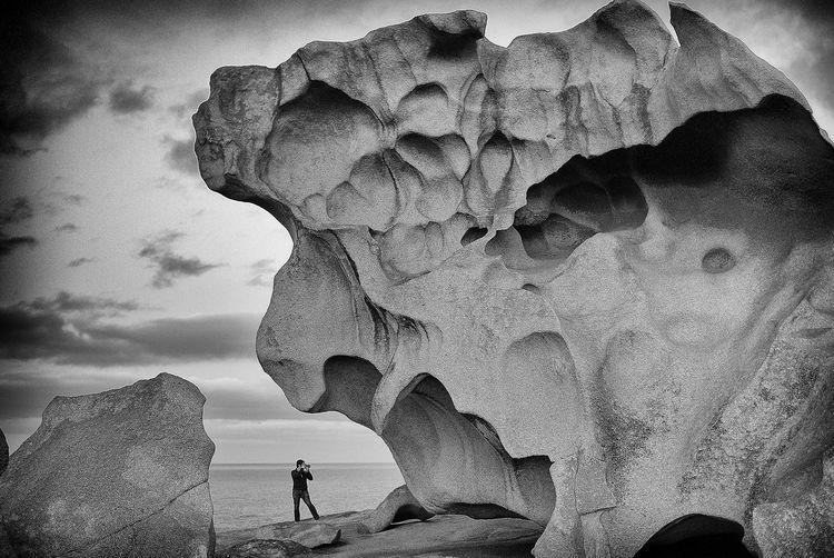 Australia Australian Landscape Black & White Nature Photography Visual Creativity Australia Tourism Black And White Boulder Kangaroo Island Leicacamera Lone Photography Nature Outdoors Photographer Remarkable Rocks Rocks And Sea Rocks And Water Tourism Weathered Rocks
