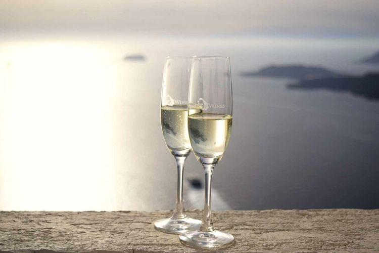 Holiday Santorini Santorini, Greece Santo Wines Santorini Champagne Champagne Glasses Island Sunshine ☀ Sunshine Ocean View Cliffside Check This Out Enjoying Life Ship Shipping Docks