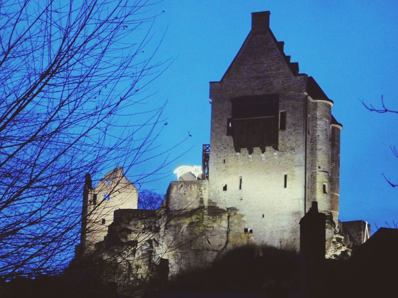 Luxembourg Outdoors Castle Ruin Beauty In Nature No People Building Feature History Night Sky