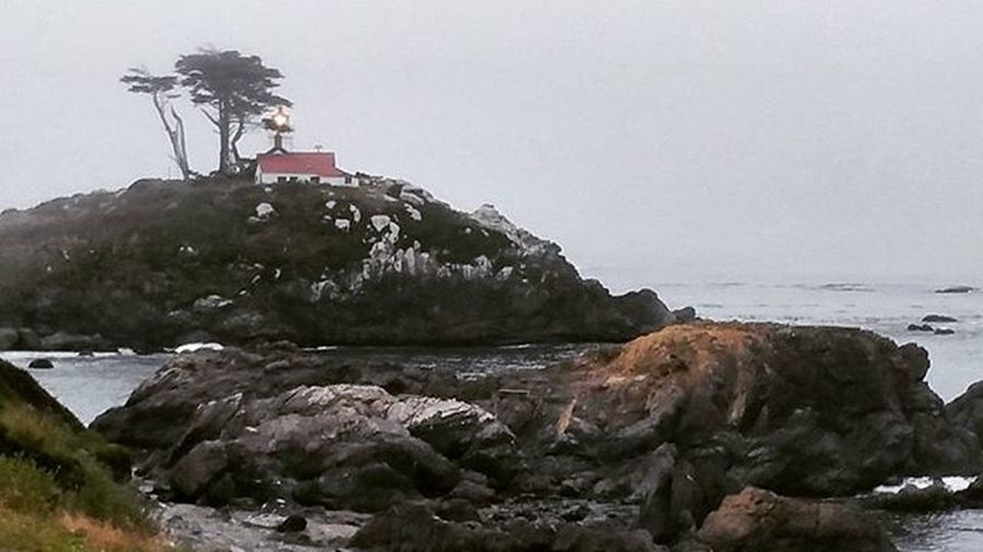 From my room in Crescent City, CA. OregonOrBust Travel Oceanfront Ocean Lighthouse Norcal California
