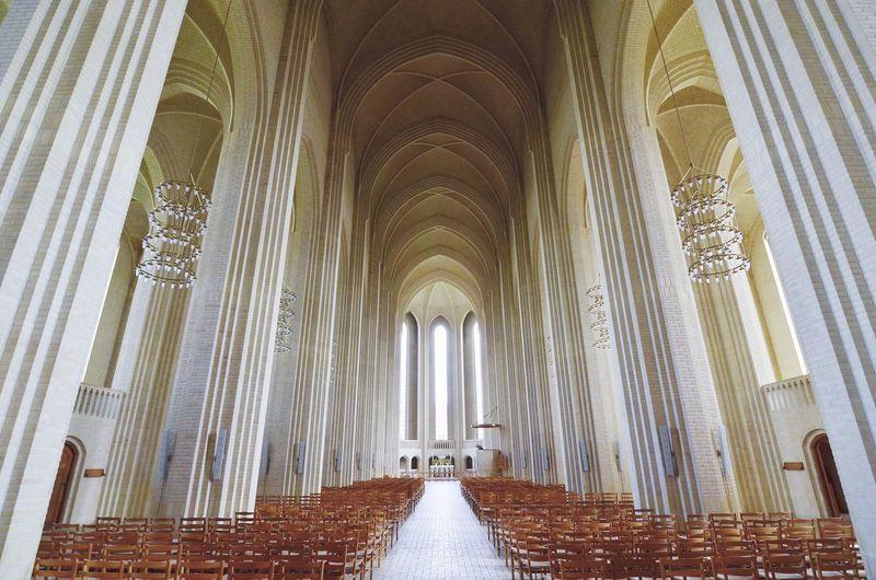 Interior of colonnade