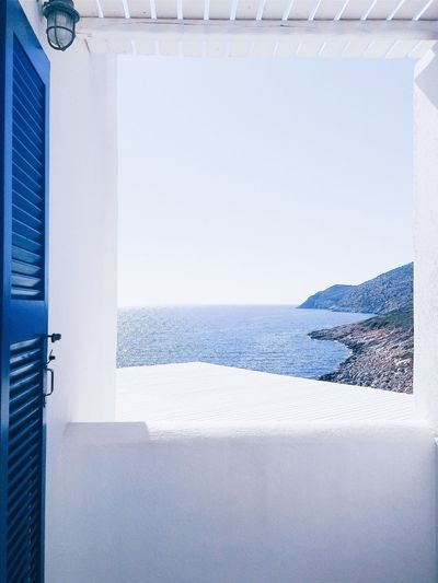 White Color Sea Day No People Nature Outdoors Blue Blue Sky Blue Sea Water Summer Summertime Summer Views Life Lifestyles Sun Sunlight Daylight Greece Greek Islands Greek Summer