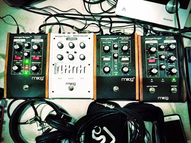 Pedal to the metal Moog Musical Instrument Music Guitar Pedals Guitar Technology Control Electricity  Close-up No People Communication Connection Power Supply Control Panel Electrical Equipment Electrical Component