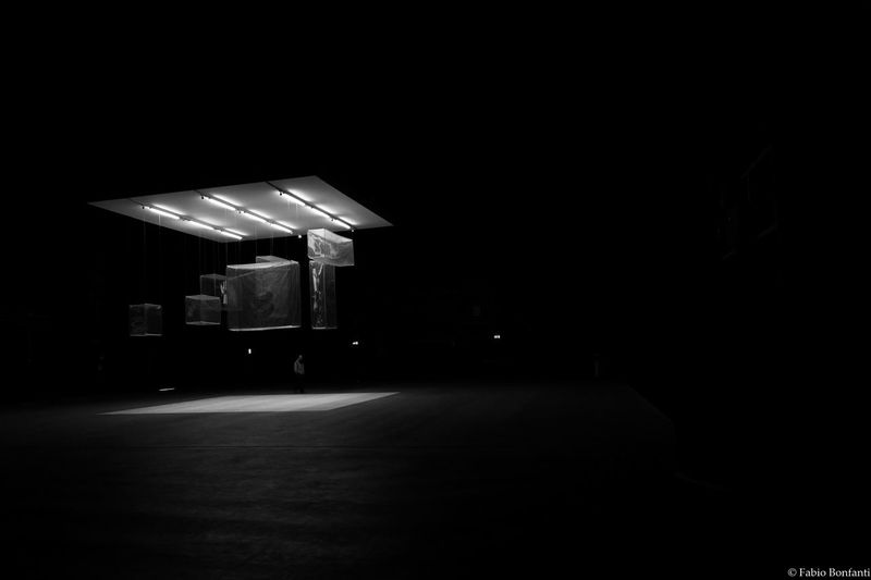 Copy Space Dark Empty Hangar Bicocca Illuminated Long Night Road Solitude The Way Forward Tranquil Scene Tranquility