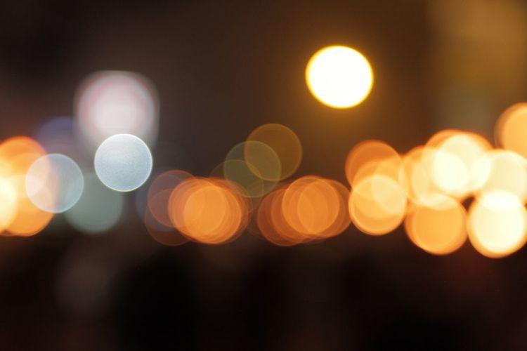 Vividmoments Nightphotography Lens Flare Warm Light Nofocus  Bali, Indonesia Nyepi Day