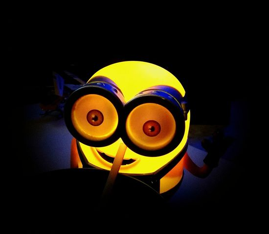 Disneyland for adults. Minions Fun Drugs #yellow P10lite Huawei Cropped Illuminated Metal Industry Close-up Music Concert Smiley Face Black Background First Eyeem Photo