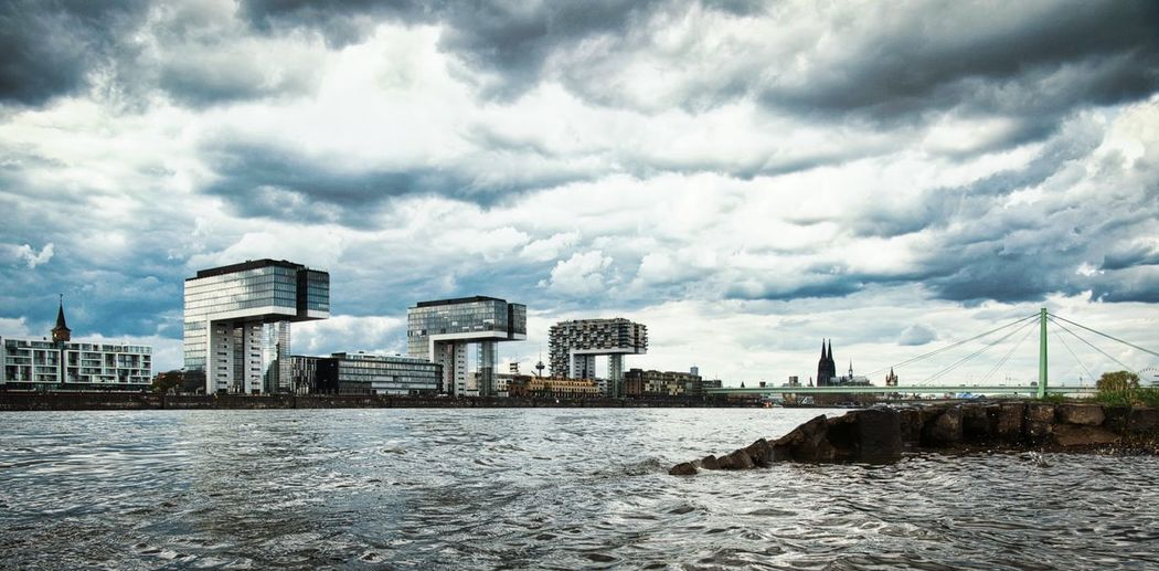 I ❤️ Cologne Cologne Cloud - Sky Sky Built Structure Architecture Building Exterior Nature Water Day No People City Outdoors Waterfront The Architect - 2018 EyeEm Awards