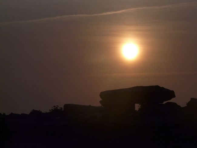 Bretagne Côté Sauvage Dolmen Stones Sun Sunset Silhouette Nature Sky Scenics No People Beauty In Nature Built Structure Building Exterior Architecture Outdoors Tree Day