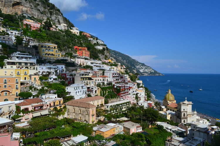 Architecture Building Exterior Built Structure Sea Building Water City Residential District Nature Town Crowd Travel Destinations Sky Day Land House Outdoors Crowded Community Cityscape Horizon Over Water TOWNSCAPE Positano Amalfi Coast Travelling Photography