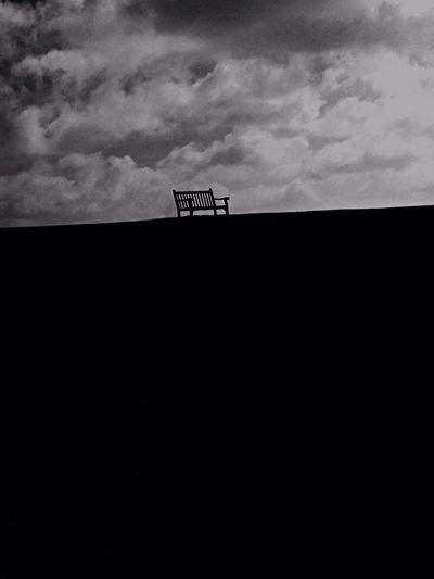 Black And White Solitary Hill Pendennis Castle Bench