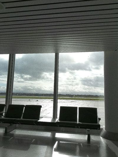 Manchester Ringway Ringway Airport Sky Through Window Clouds And Sky