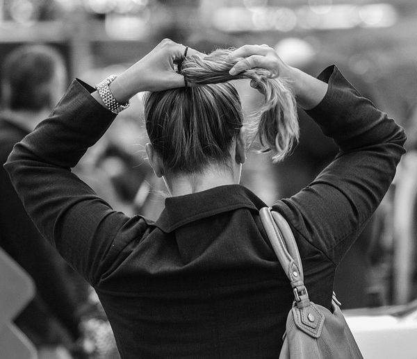 Adjust Blackandwhite Candid Close-up Hair Hands Series Streetphotography