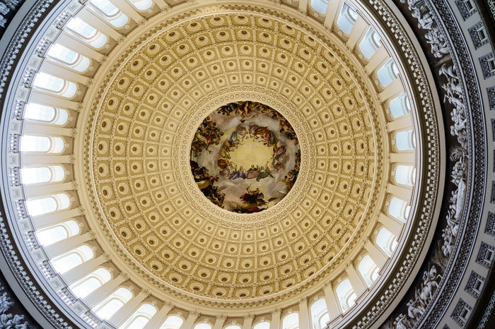 America Architecture Architecture And Art Building Exterior Built Structure Congress Day Directly Below Dome Government Hill History House Indoors  No People Pattern Politics Power Travel Destinations U.S. Capitol USA Washington, D. C.
